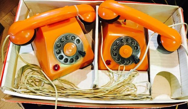 #vintage #retro #phones #orange #toys