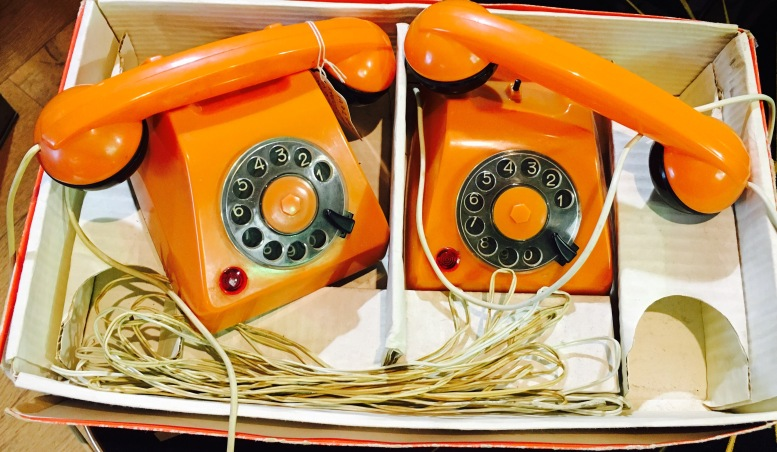 #vintage #retro #phones #orange #toys