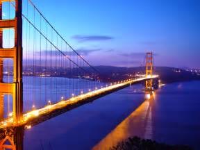 San Francisco, bay, Golden Gate Bridge, sunset, city, tram, hills, houses