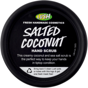 Lush, coconut, hand, scrub, manicure, beauty