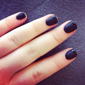 Nails, beauty, manicure, black