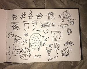 Pen and ink, doodles, art, ink
